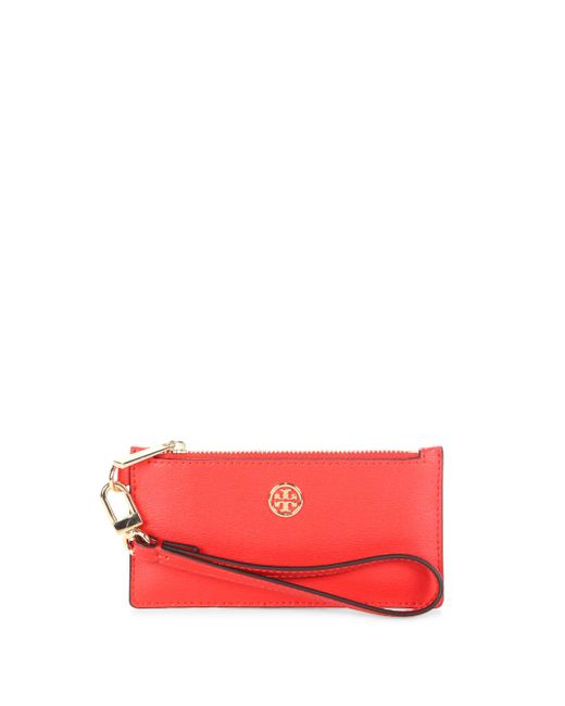 Tory Burch | Red Parker Leather Zip Wristlet | Lyst