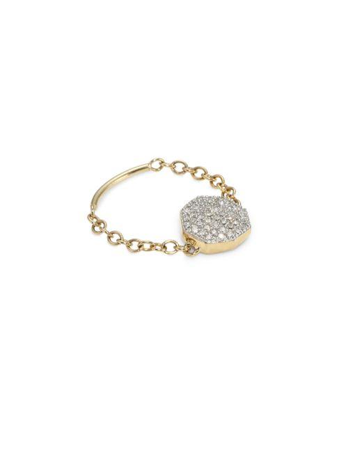 Phillips House - Metallic Diamond 14k Yellow Gold Chain Ring - Lyst