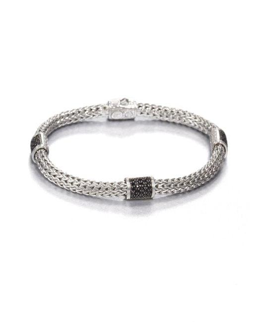 John Hardy | Metallic Classic Chain Black Sapphire & Sterling Silver Four-station Bracelet | Lyst