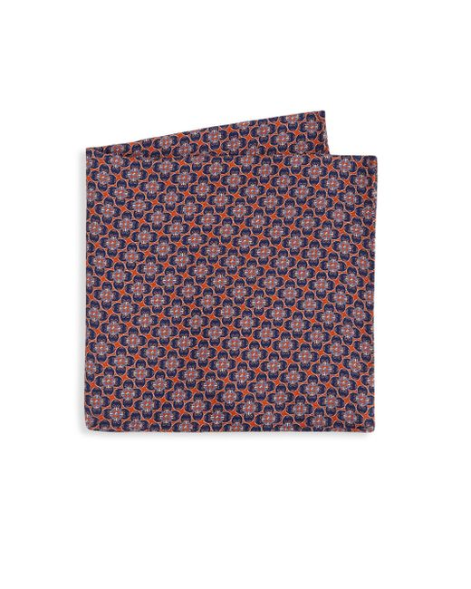 Saks Fifth Avenue - Purple Collection Printed Silk Pocket Square for Men - Lyst