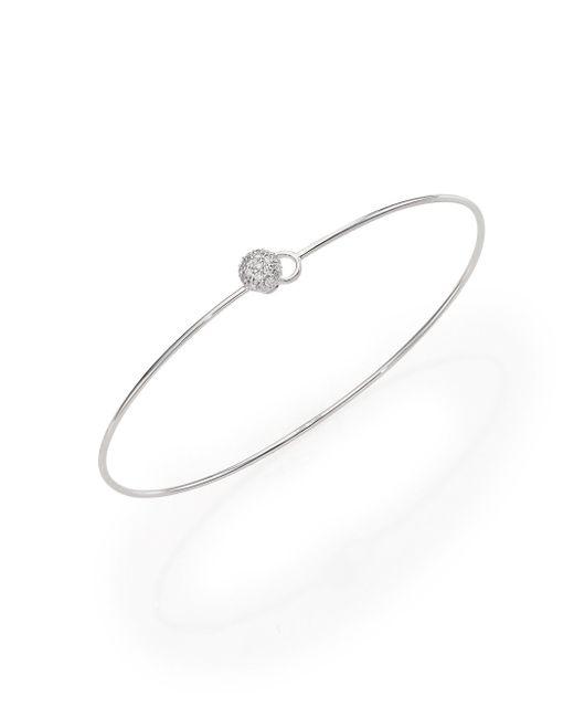 Phillips House - Metallic Affair Infinity Wire Love Always Diamond & 14k White Gold Bracelet - Lyst