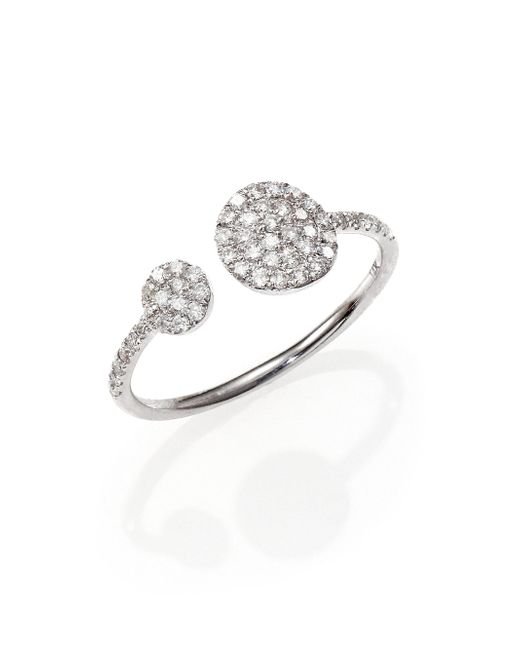 Meira T - Diamond & 14k White Gold Wrap Ring - Lyst