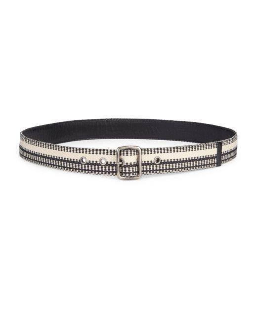 Saint Laurent - Black Cotton Fabric Belt - Lyst