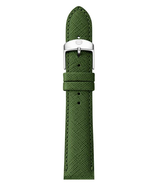 Michele Watches - Green Saffiano Leather Watch Strap/16mm - Lyst