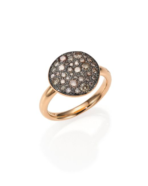 Pomellato - Pink Sabbia Brown Diamond & 18k Rose Gold Ring - Lyst