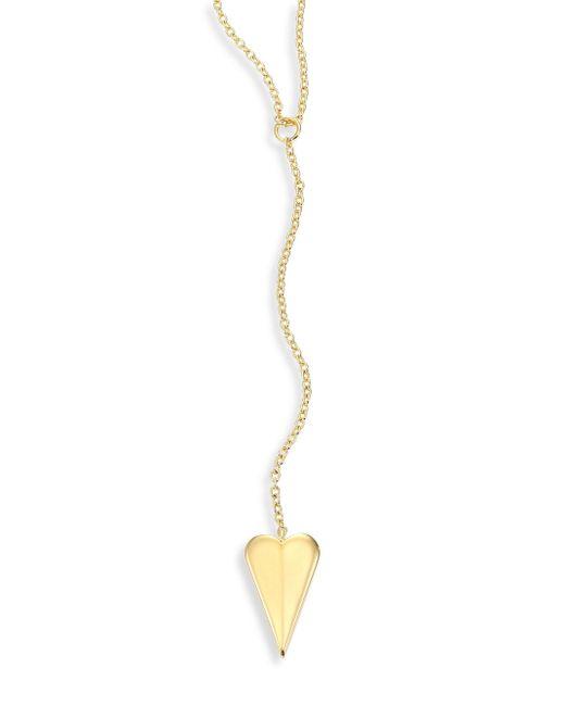 Elizabeth and James | Metallic Bronte Lariat Necklace | Lyst