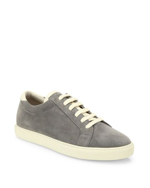 Brunello Cucinelli - Gray Suede Sneakers for Men - Lyst