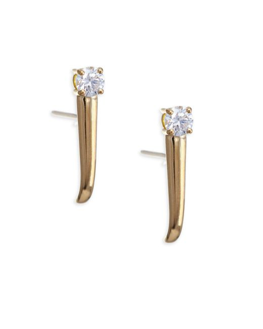 Melissa Kaye - Metallic Aria 18k Gold 0.33 Tcw Diamond Dagger Earrings - Lyst