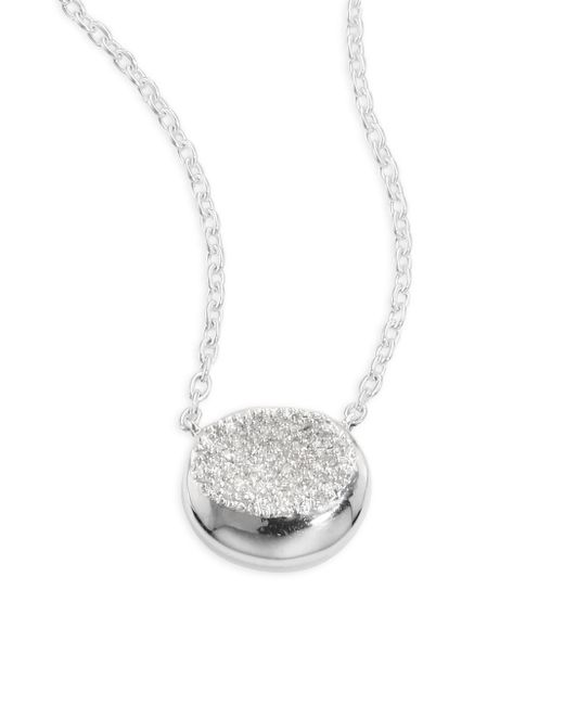 Ippolita - Metallic 925 Onda Diamond Pendant Necklace - Lyst