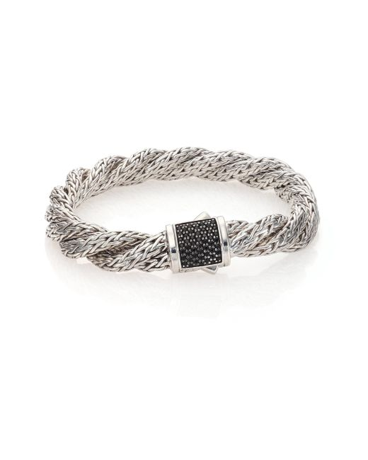 John Hardy - Metallic Classic Chain Black Sapphire & Sterling Silver Medium Twisted Bracelet - Lyst