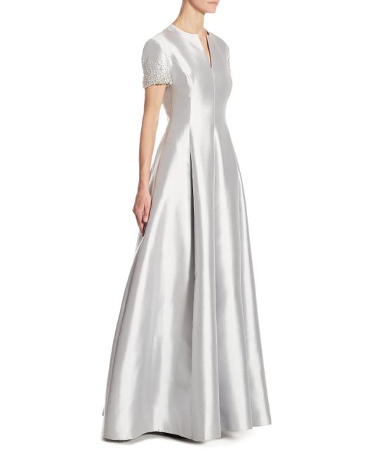Catherine Regehr - Gray Embellished Silk & Wool Gown - Lyst