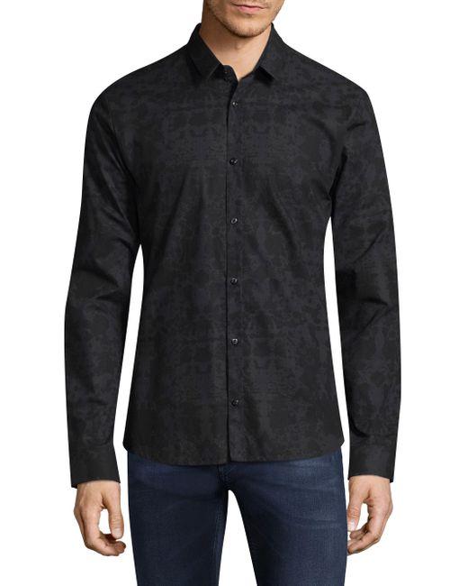 HUGO - Blue Ero Regular-fit Cotton Button-down Shirt for Men - Lyst