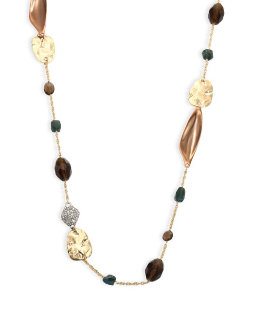 Alexis Bittar | Multicolor Elements Beaded Smoky Quartz, Green Labradorite & Crystal Necklace/42 | Lyst