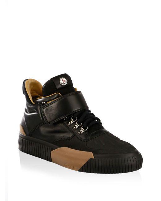 Moncler | Black Cyprien Sneakers for Men | Lyst