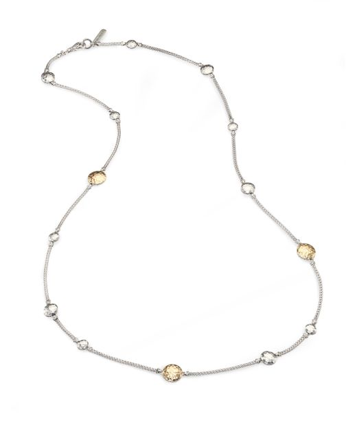 John Hardy - Metallic Palu 18k Yellow Gold & Sterling Silver Station Sautoir Necklace - Lyst