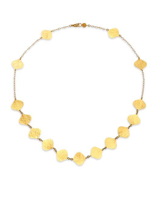 Gurhan   Metallic 24k Clove Flake Station Necklace   Lyst