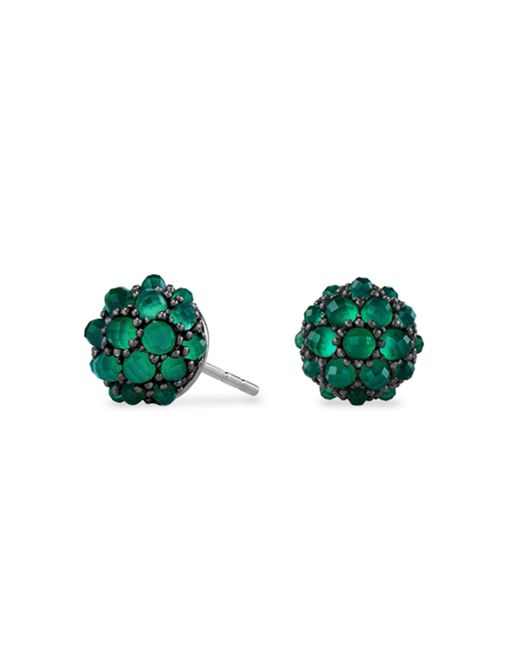 David Yurman - Green Osetra Stud Earrings With Faceted Gemstones - Lyst