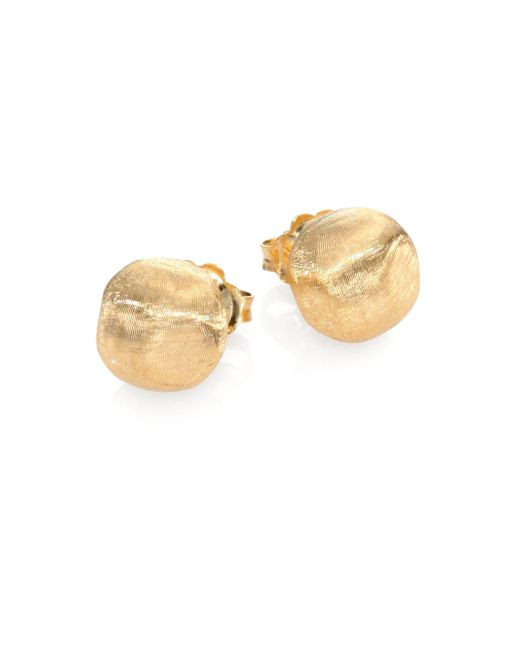 Marco Bicego - Metallic Africa 18k Yellow Gold Ball Stud Earrings - Lyst
