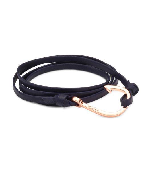 Miansai - Blue Hook Leather Bracelet - Lyst