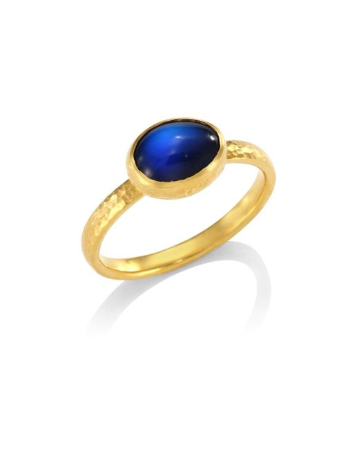 Gurhan | Metallic Delicate Hue Blue Moonstone Stacking Ring | Lyst