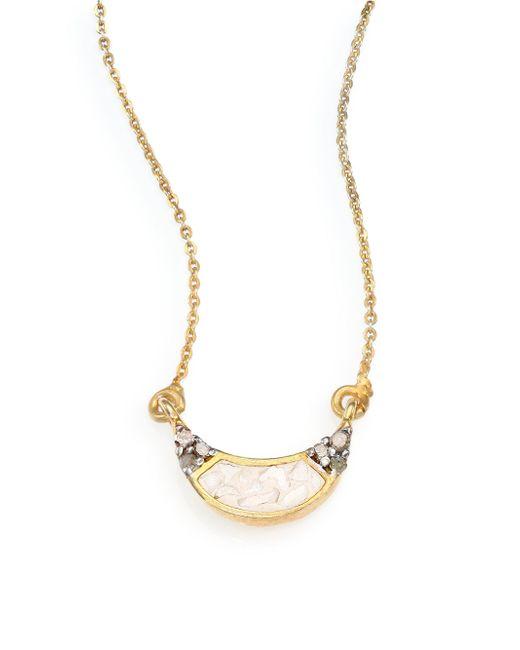 Shana Gulati - Metallic Banjara Champagne Diamond Noorpur Pendant Necklace - Lyst