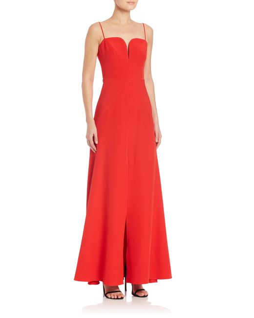 MILLY | Pink Italian Cady Penelope Gown | Lyst