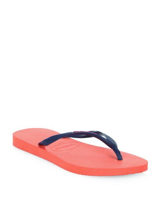 Havaianas | Pink Slim Logo Pop Up Flip Flops | Lyst