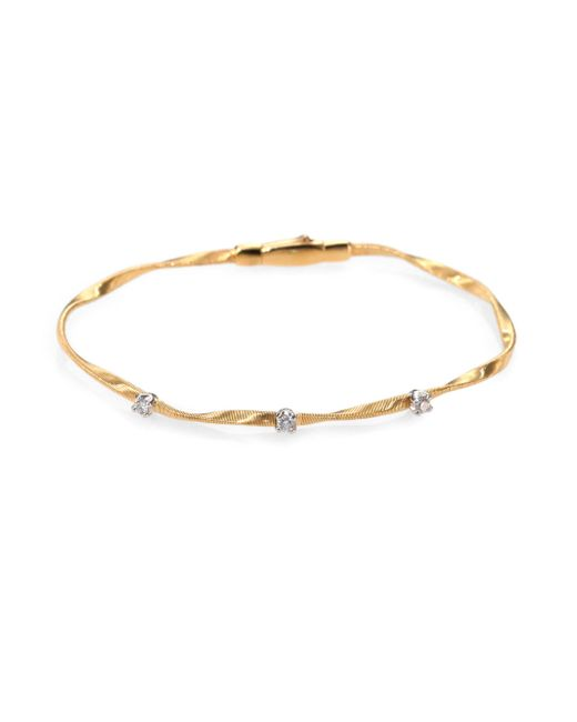Marco Bicego - Metallic Marrakech Diamond & 18k Yellow Gold Bracelet - Lyst