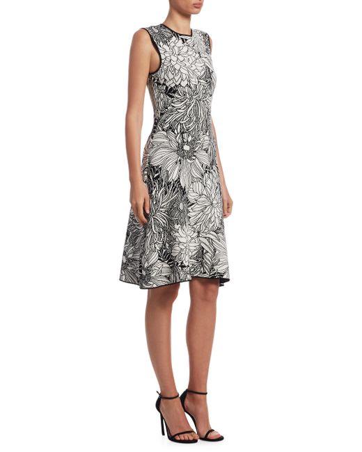 Mary Katrantzou - Black Viola Jacquard Knit A-line Dress - Lyst