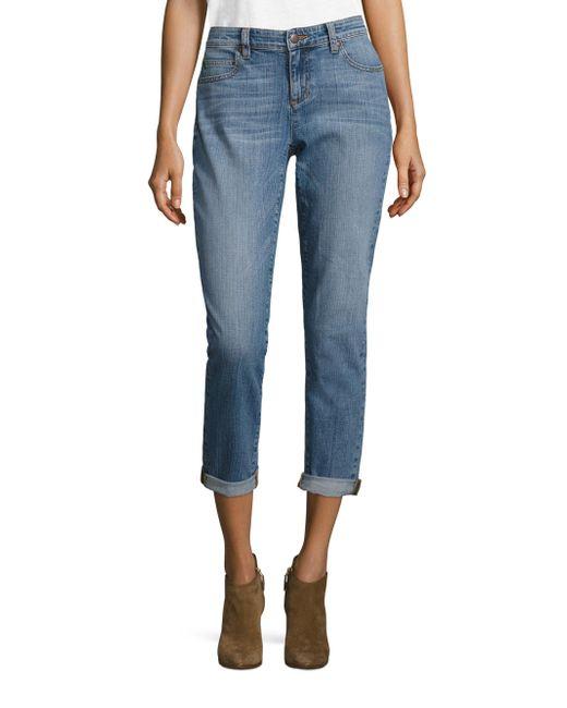 Eileen Fisher | Blue Organic Cotton Boyfriend Jeans | Lyst