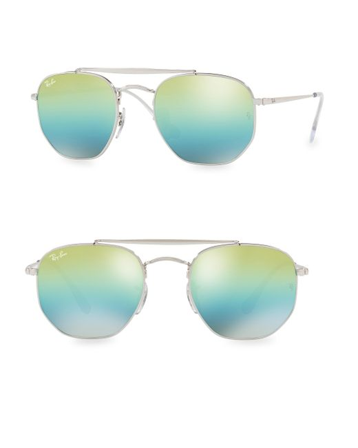 Ray-Ban - Green 54mm Iconic Aviator Sunglasses - Lyst