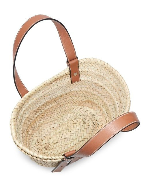 Loewe Multicolor Small Leather-trimmed Basket Tote