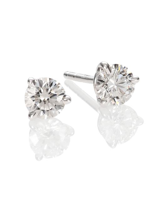 Kwiat | Metallic Diamond & Platinum Stud Earrings/0.7 Tcw | Lyst