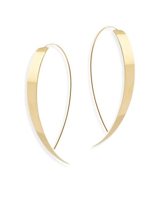 Lana Jewelry - Metallic Bond 14k Yellow Gold Large Vanity Hooked On Hoop Earrings - Lyst