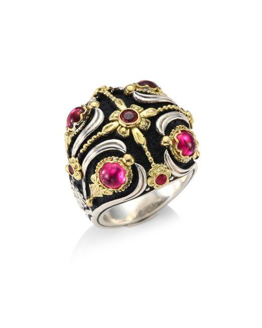 Konstantino | Multicolor Nemesis Pink Tourmaline Ring | Lyst