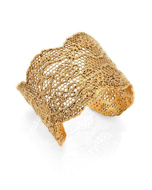 Aurelie Bidermann - Metallic Maxi Cuff Bracelet - Lyst