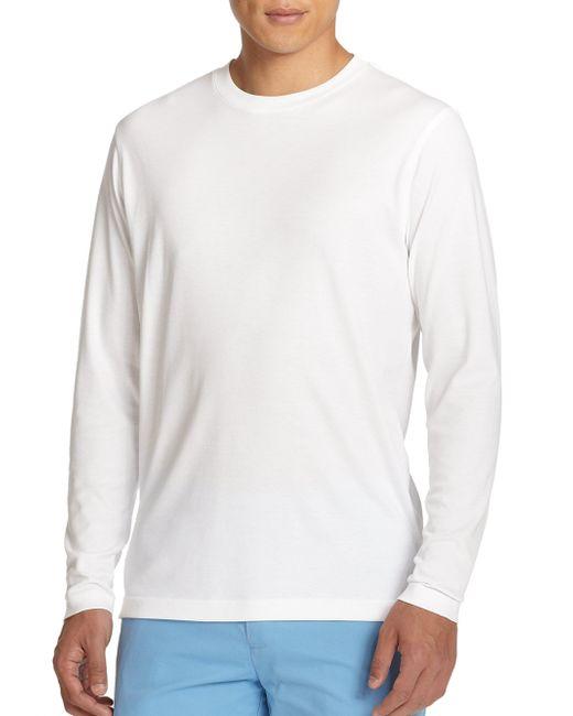 Saks Fifth Avenue | White Long-sleeved Tee for Men | Lyst