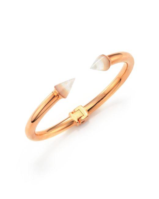 Vita Fede - Metallic Mini Titan Mother-of-pearl & Crystal Cuff Bracelet - Lyst