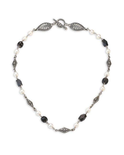 Konstantino - Metallic Iliada Moonstone, Pearl & Sterling Silver Necklace - Lyst