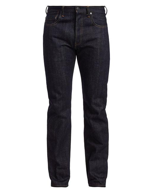 John Elliott Blue Straight-fit Selvedge Jeans for men