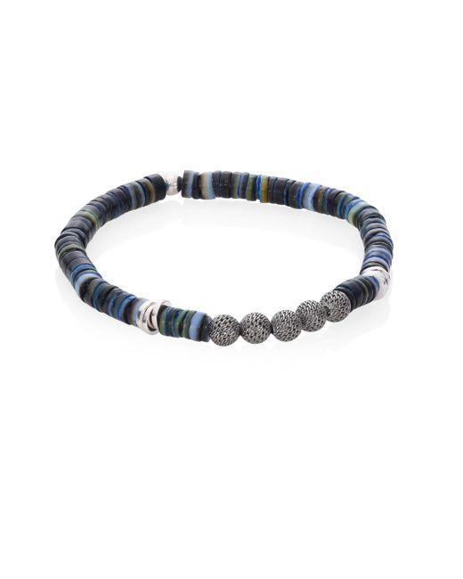 Tateossian   Blue Seychelles Mesh Bracelet   Lyst