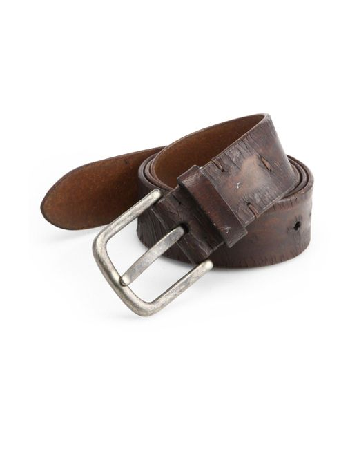 Saks Fifth Avenue | Brown Distressed Leather Belt for Men | Lyst
