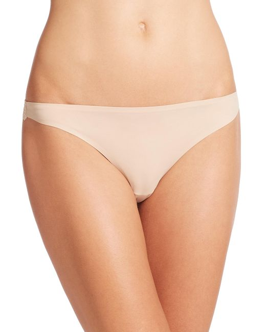 Stella McCartney - Natural Stella Smooth & Lace Thong - Lyst