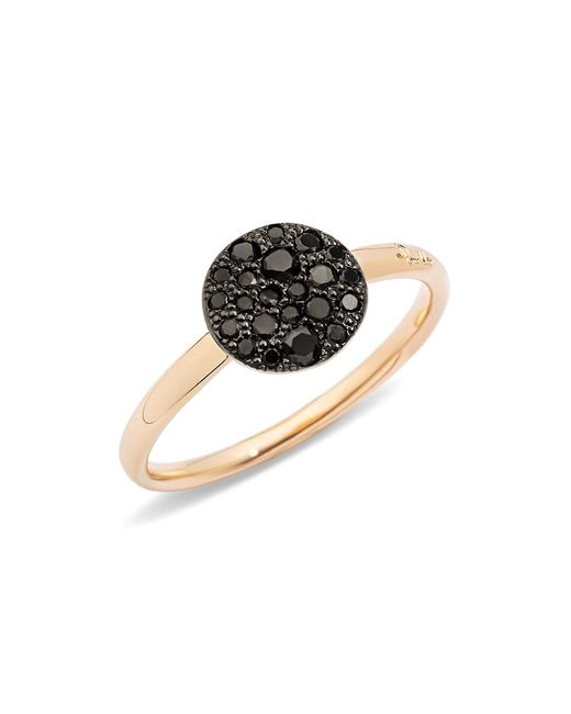 Pomellato Pink Sabbia Black Diamond & 18k Rose Gold Small Ring