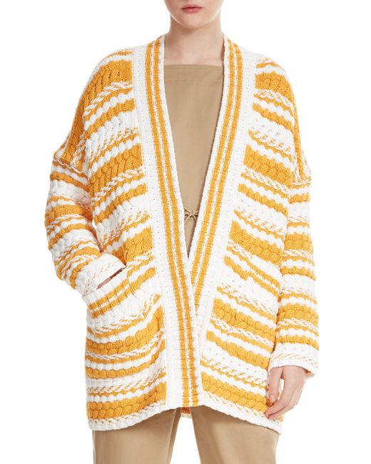 Maje - Multicolor Milio Striped Cardigan - Lyst
