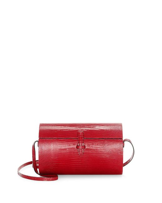 Hunting Season - Red Oval Trunk Leather Lizard Bag - Lyst