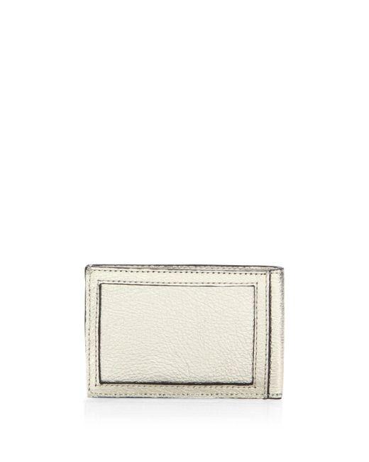 Rebecca Minkoff - Metallic Leather Metro Card Case - Lyst