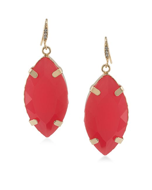 ABS By Allen Schwartz | Red Sun Daze Drop Earrings | Lyst