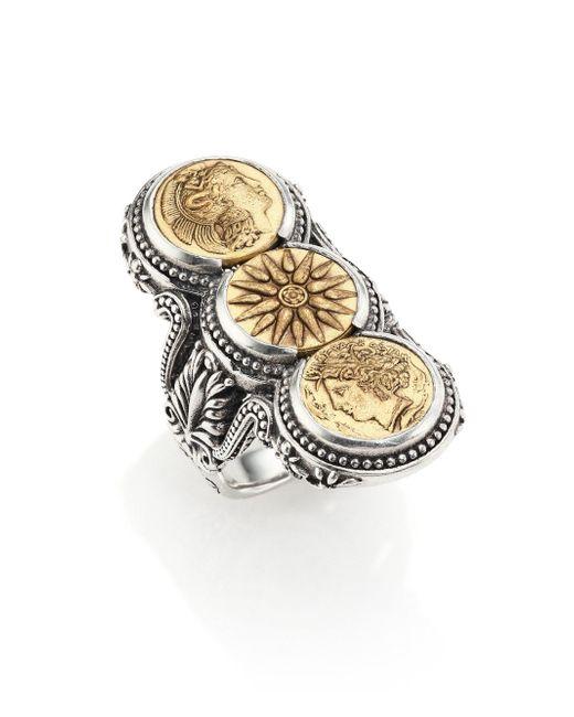 Konstantino - Metallic Kerma Bronze & Sterling Silver Three-coin Ring - Lyst