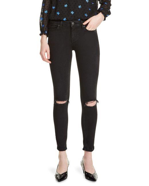Maje - Black Priska Embroidered Jeans - Lyst